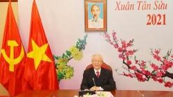 Tổng Bí thư Nguyễn Phú Trọng điện đàm với Tổng Bí thư Lào Thongloun Sisoulith