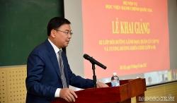Khai giảng trực tuyến Lớp bồi dưỡng lãnh đạo, quản lý cấp Vụ dành cho các cơ quan đại diện Việt Nam tại nước ngoài
