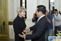 Chùm ảnh Phó Thủ tướng Phạm Bình Minh tiếp, hội đàm với Bộ trưởng Ngoại giao Australia