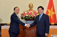 Phó Thủ tướng Phạm Bình Minh:  Việt Nam coi trọng và ưu tiên tăng cường hợp tác với Campuchia