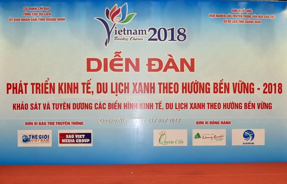 """Khai mạc Diễn đàn """"Phát triển kinh tế, du lịch xanh bền vững 2018"""""""