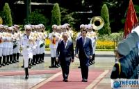 Lễ đón Thủ tướng Italy Giuseppe Conte tại Phủ Chủ tịch