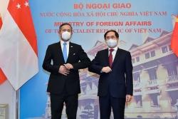Bộ trưởng Ngoại giao Bùi Thanh Sơn đón, hội đàm với Bộ trưởng Ngoại giao Singapore Vivian Balakrishnan