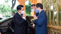 Bộ trưởng Ngoại giao Bùi Thanh Sơn tiếp, làm việc với Bộ trưởng Ngoại giao Lào Saleumxay Kommasith