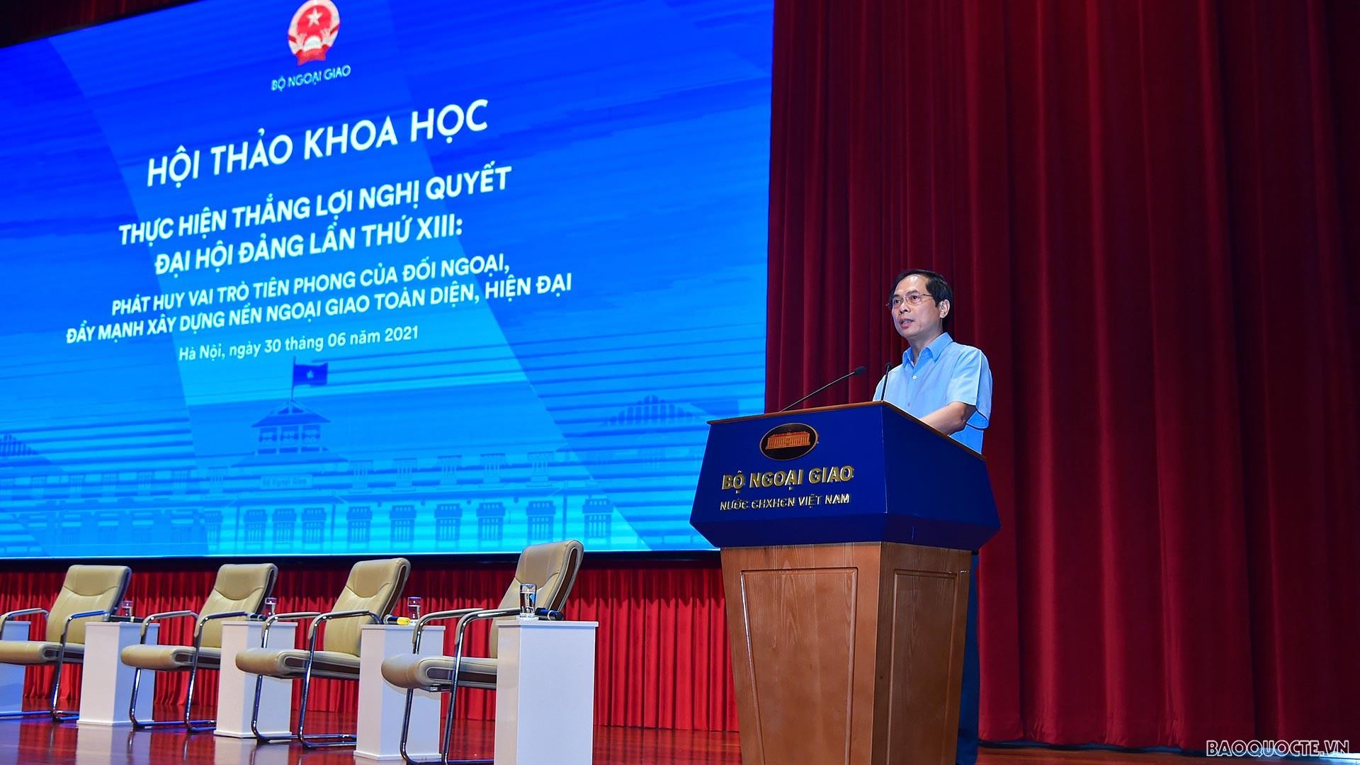 Khai mạc Hội thảo khoa học về đẩy mạnh xây dựng nền ngoại giao toàn diện, hiện đại, thực hiện thắng lợi Nghị quyết Đại hội XIII