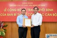 Công bố Quyết định của Ban Bí thư về công tác cán bộ của Liên hiệp các tổ chức hữu nghị Việt Nam
