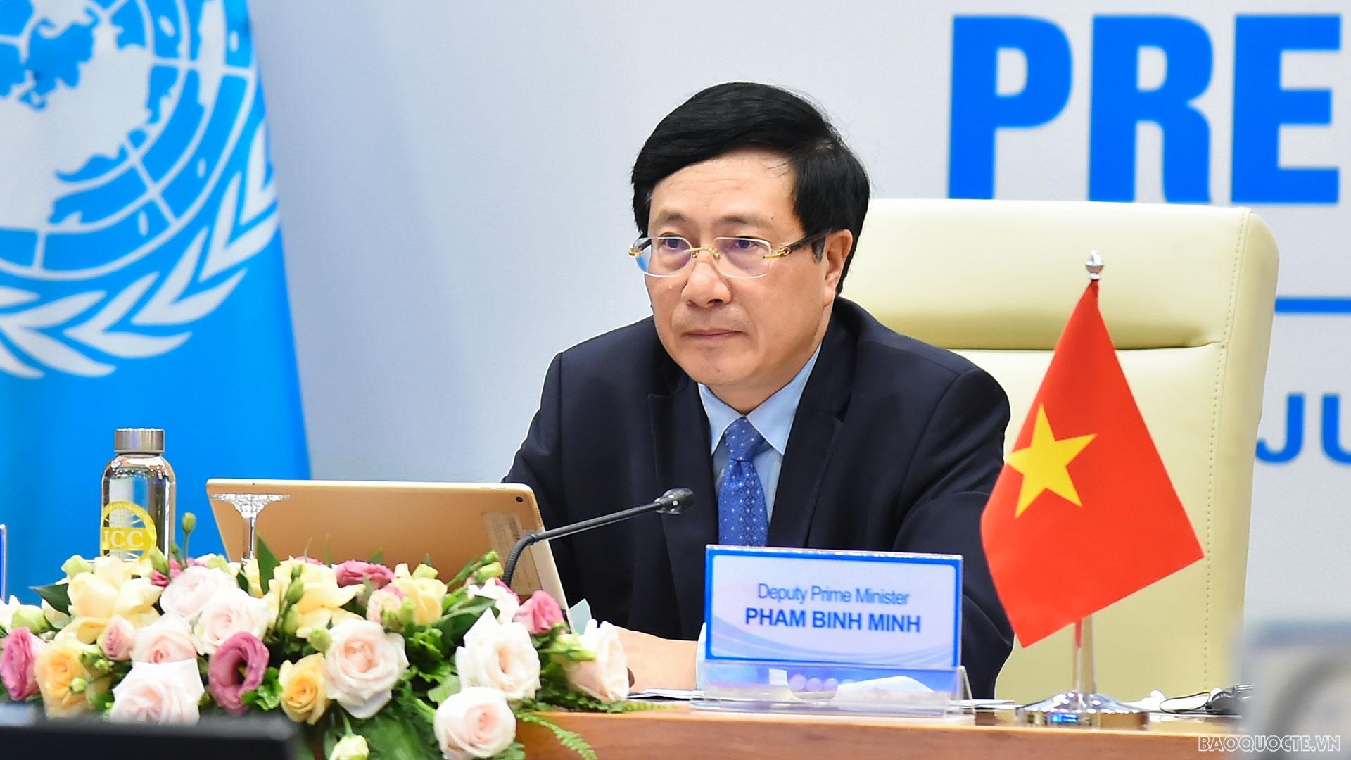 Phó Thủ tướng Phạm Bình Minh: Tăng cường và nâng cao hiệu quả hợp tác quốc tế để chiến thắng đói nghèo