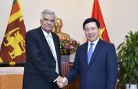 Phó Thủ tướng Phạm Bình Minh hội kiến Thủ tướng Sri Lanka Ranil Wickremesinghe