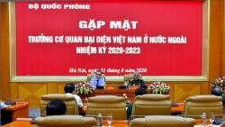 Đoàn Trưởng Cơ quan đại diện Việt Nam ở nước ngoài làm việc tại Bộ Quốc phòng