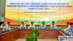 Đoàn Trưởng Cơ quan đại diện Việt Nam ở nước ngoài nhiệm kỳ 2020-2023 làm việc với Lãnh đạo TP Hồ Chí Minh