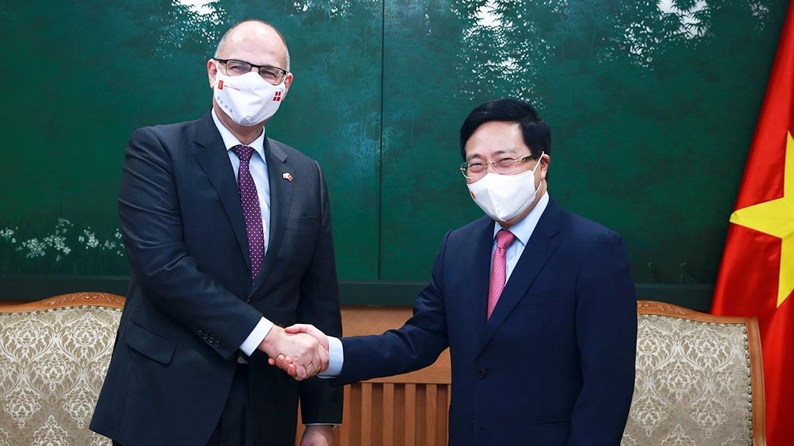 Đề nghị Đan Mạch tiếp tục hỗ trợ Việt Nam tiếp cận nguồn vaccine ngừa Covid-19