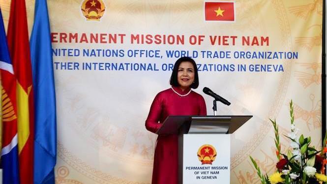 Phái đoàn đại diện thường trực Việt Nam tại Geneva trọng thể kỷ niệm 76 năm Quốc khánh 2/9