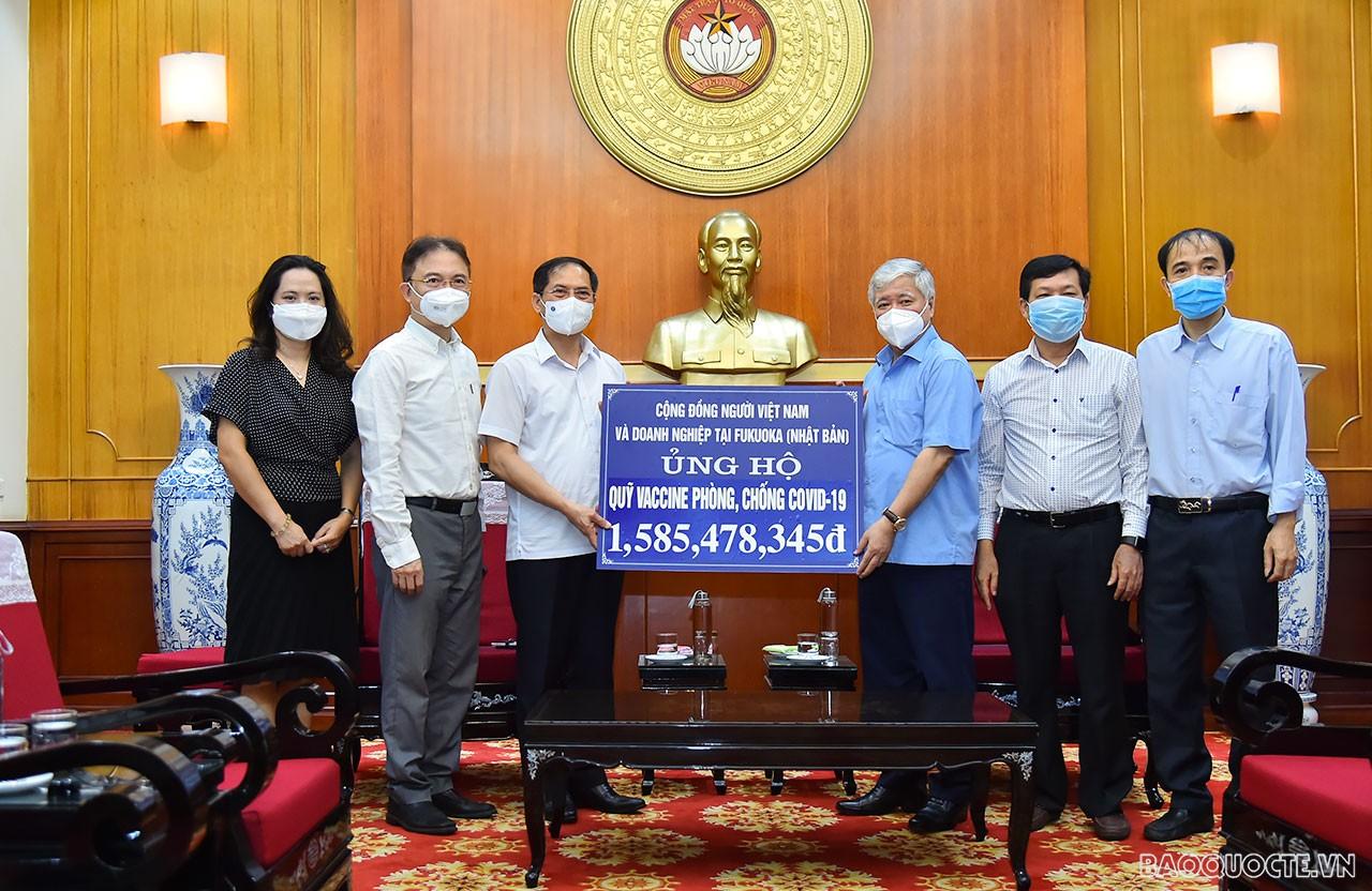 Cộng đồng người Việt Nam ở nước ngoài tiếp tục ủng hộ hơn 3 tỷ đồng cho Quỹ vaccine Covid-19