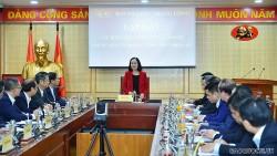 Ban Tổ chức Trung ương làm việc với Đoàn Trưởng cơ quan đại diện Việt Nam ở nước ngoài nhiệm kỳ 2021-2024
