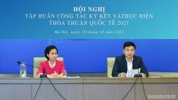 Hội nghị tập huấn công tác ký kết và thực hiện thỏa thuận quốc tế năm 2021