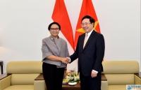 Phó Thủ tướng Phạm Bình Minh tiếp, hội đàm với Bộ trưởng Ngoại giao Indonesia Retno Marsudi