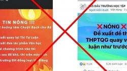 Mạng xã hội lan truyền thi tốt nghiệp THPT 2022 bằng hình thức tự luận, Bộ GD&ĐT khẳng định là 'tin giả'
