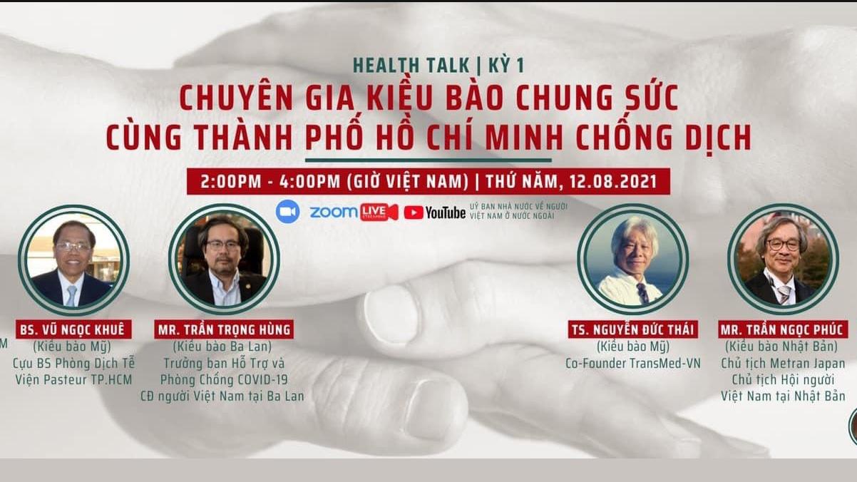 """Tọa đàm trực tuyến """"Chuyên gia kiều bào chung sức cùng TP. Hồ Chí Minh chống dịch"""""""