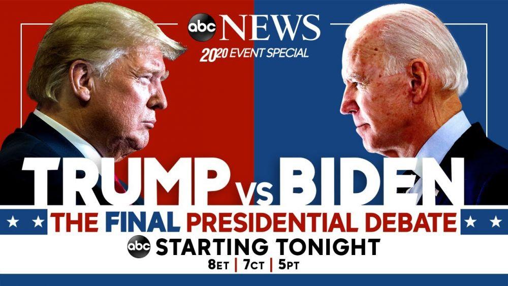 Tranh luận bầu cử Tổng thống Mỹ lần ba giữa ông Joe Biden và ông Donald Trump