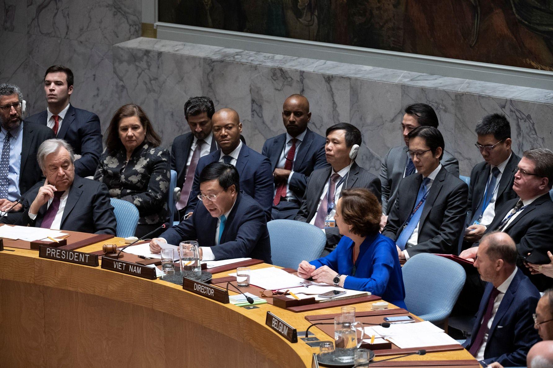 Video Phó Thủ tướng Phạm Bình Minh phát biểu tại phiên thảo luận mở của Hội đồng Bảo an