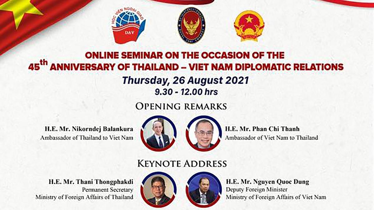 Hội thảo kỷ niệm 45 năm quan hệ ngoại giao Việt Nam-Thái Lan