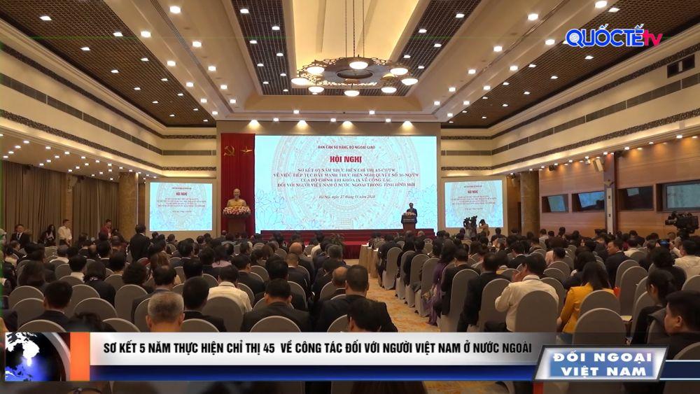 Bản tin Đối ngoại Việt Nam thứ Hai, ngày 30/11/2020