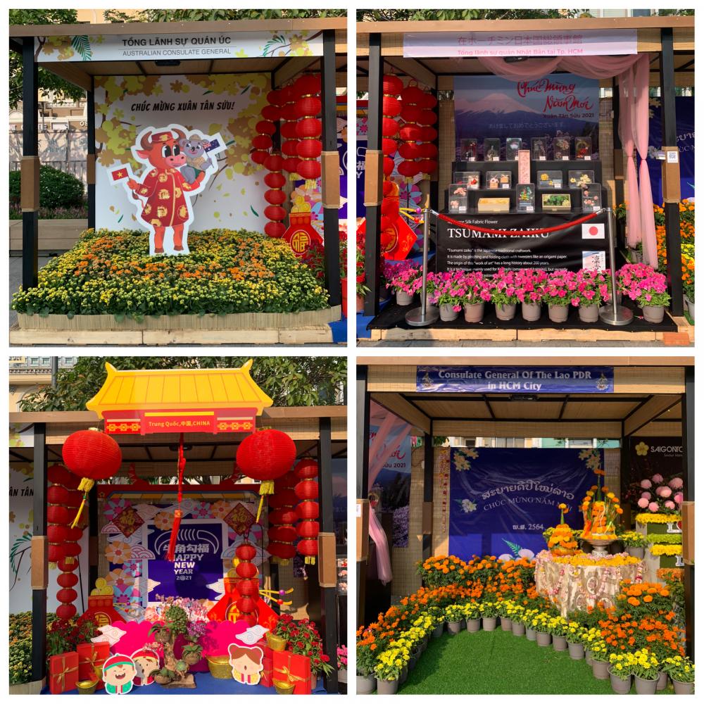 Góc Quốc tế trên đường hoa Nguyễn Huệ - Tp. HCM