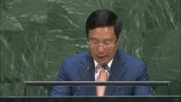 Phó Thủ tướng Phạm Bình Minh phát biểu tại Đại hội đồng Liên hợp quốc